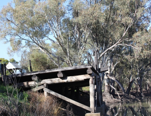 The Old Wharf at Moulamein