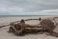 and what looks like the remains of an old tug boat.