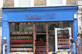 The Notting Hill Book shop - that's not a book shop