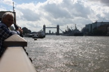 The view of the Tower Bridge from the Thames walk