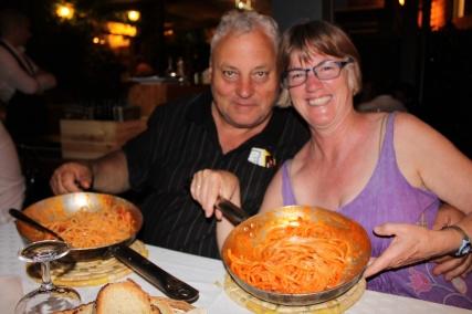 Perfecto pasta at Taverna Trilussa
