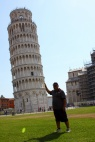 Just to be different Shane decides to lean on the leaning tower of Pisa