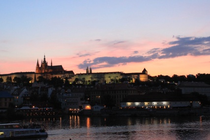 From the Charles Bridge looking toward the Prague Castle.