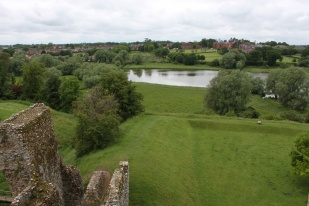 The Mere, used to keep fish, and birdlife later to feed the occupants of the castle.