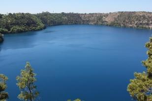 Deep sapphire blue of the Blue Lake