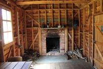 Inside Broken Dam Hut - rebuilt as close to the original as possible.