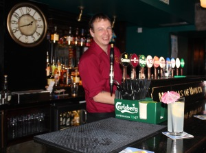 Ireland's best barman, Kevin with Shane's special drink