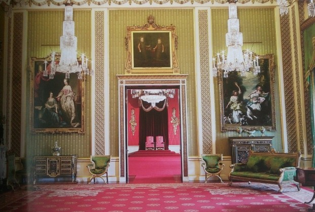 The Green Drawing Room looking through to the throne room