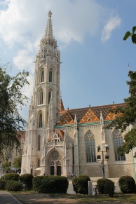 Matthias Church- rebuilt around 30 times and even once a Mosque.